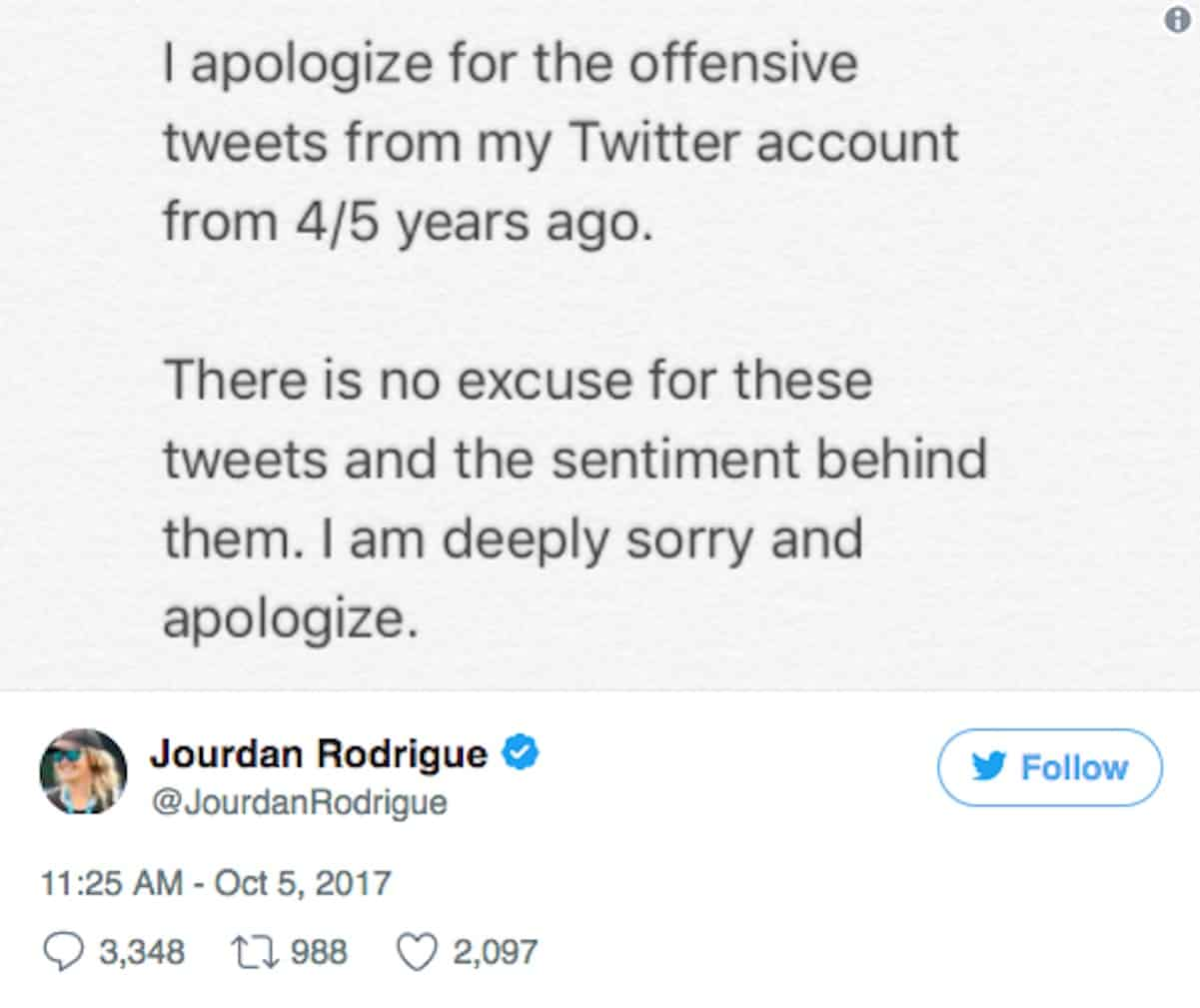 a report on the apology of home depot after a racist tweet Home depot dedicates twitter feed to apologies and terminates social media agency after racist tweet there was an almost immediate backlash from the home depot's 160,000+ twitter followers, especially from african-americans.