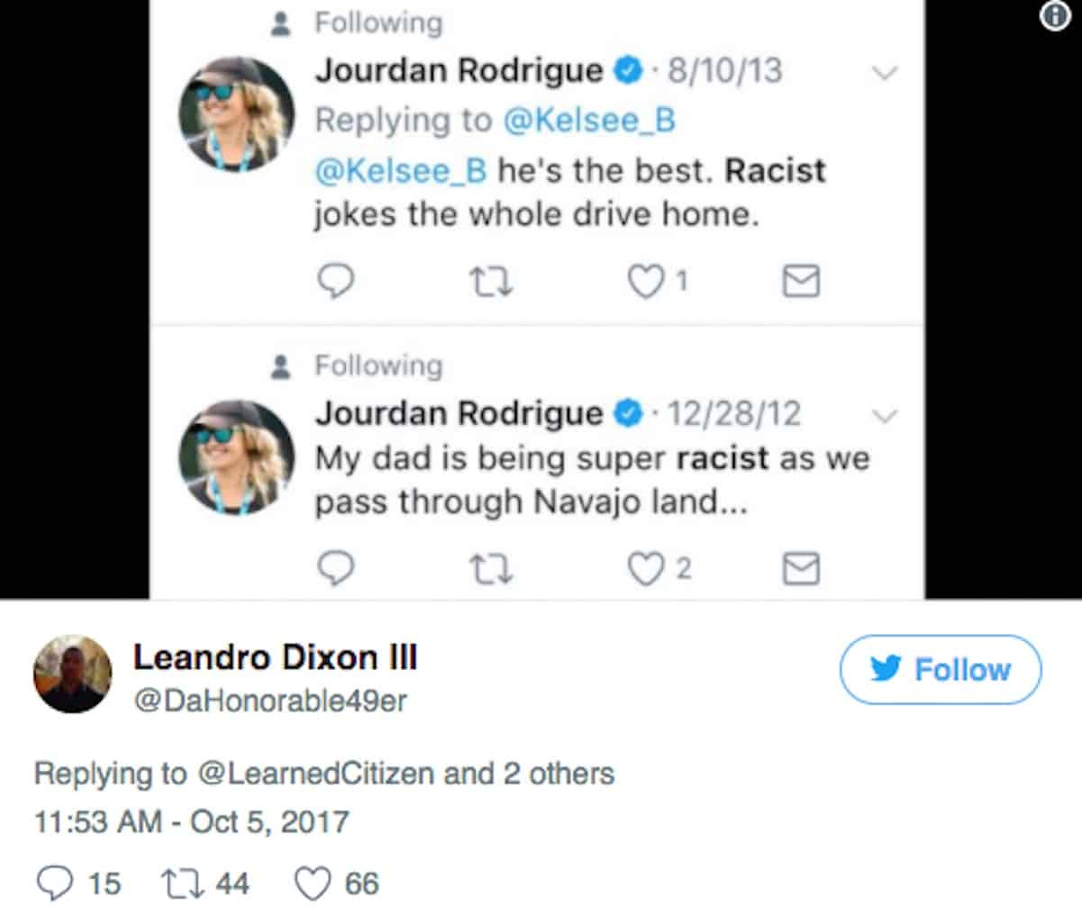 jourdan rodrigue cam newton racist tweet