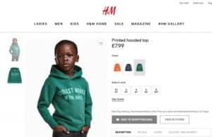 hm racist monkey sweatshirt