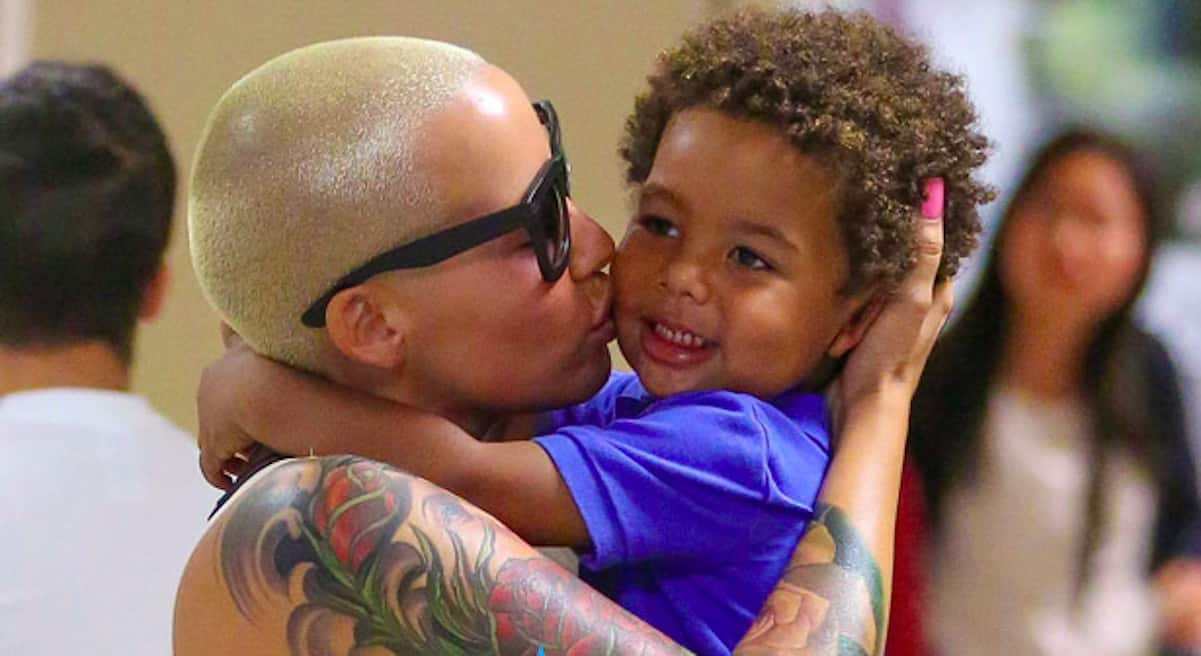amber rose son naked