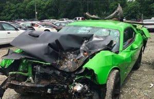 offset car accident