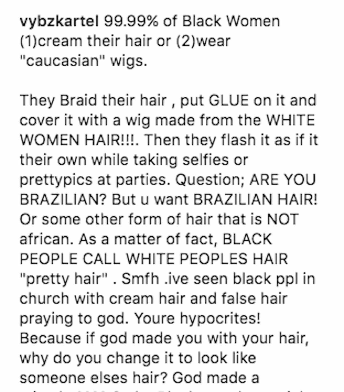 vybz kartel black women wigs