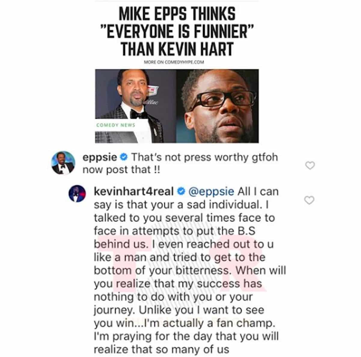 mike epps kevin hart beef