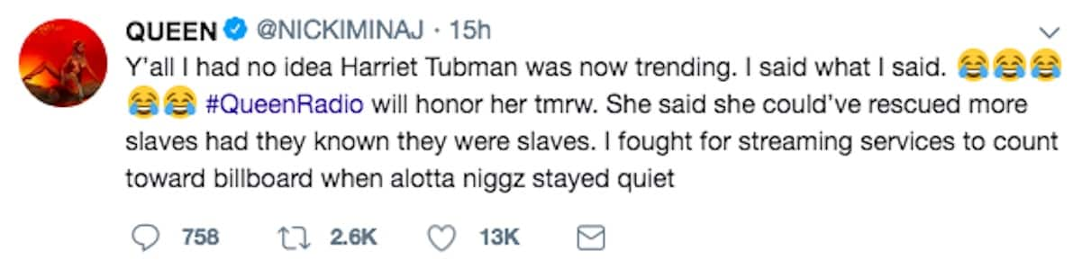 nicki minaj harriet tubman